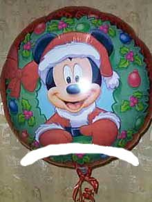 Christmas 18 Inch Mylar Balloon - Christmas Mickey Mouse Santa 18