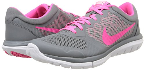 Womens-Nike-Flex-Run-2015-Running-Shoe-Cool-GreyWhitePink-Pow-Size-75-M-US