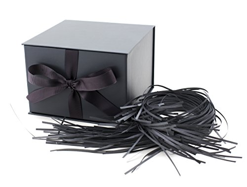 Hallmark Large Gift Box for Weddings, Graduations, Anniversaries, Valentine's Day and More (Solid Gray) - ()