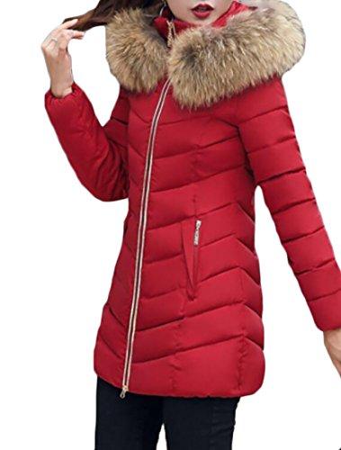 Gocgt Women Casual Fur Collar Long Puffer Down Jacket 1