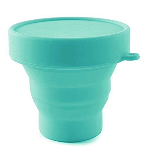 Collapsible Silicone Cup Foldable Sterilizing Cup for Menstrual Cup for Moon Cup (Sky Blue)