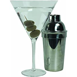 SCS Direct Oversized XL Giant Martini Cocktail Glass -25oz (760ml) 9 Tired of those tiny 6oz or even 4oz martinis; Upgrade to our giant martini glass This massively giant martini glass holds an impressive 25oz of your favorite martini or cocktail. Made of glass, drop safe packaging