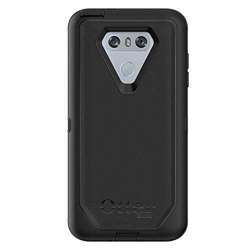 Rugged Protection OtterBox Defender Series Case for LG G6 with Belt Clip/Holster - Bulk Packaging - Black