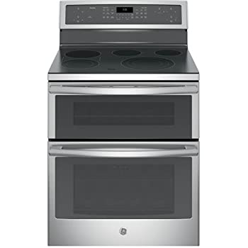 """GE PB960SJSS Profile 30"""" Stainless Steel Electric Smoothtop Double Oven Range - Convection"""