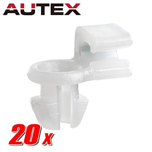 AUTEX 20pcs Left Side Front Door Locks Handle Inside Snap- Lock Fastener Rivet Push Clips Retainer Nut Replacement for Honda Accord CR-V Element Insight Odyssey Pilot Prelude Ridgeline
