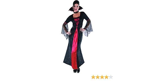 Disfraz de Condesa Vampira para mujer en varias tallas para Halloween: Amazon.es: Juguetes y juegos