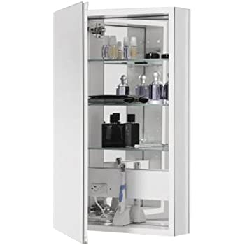 Merveilleux Robern CB PLM2030WBLE Pl Series Left Side Flat Bevel Mirror Medicine Cabinet  With