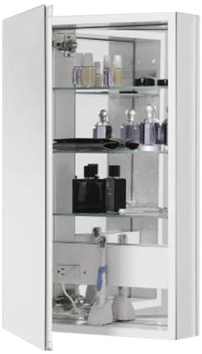 Bon Robern CB PLM2030WBLE Pl Series Left Side Flat Bevel Mirror Medicine Cabinet  With