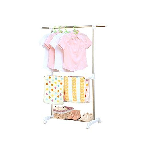 Single Pole Stainless Steel Drying Rack, Retractable Lifting Floor, Indoor Balcony Adjustable Hanger (L85~142cmW43cmH90~155cm)