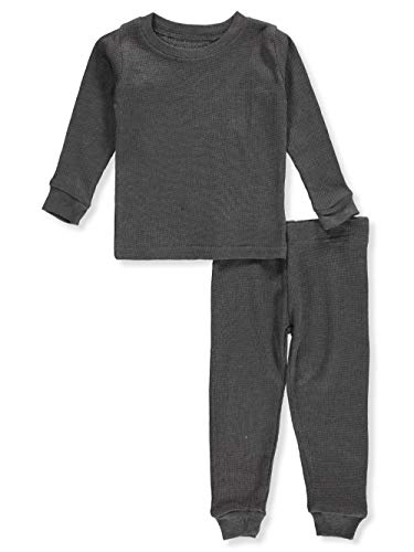Ice20 Baby Boys' 2-Piece Thermal Long Underwear Set - Heather Charcoal, 12