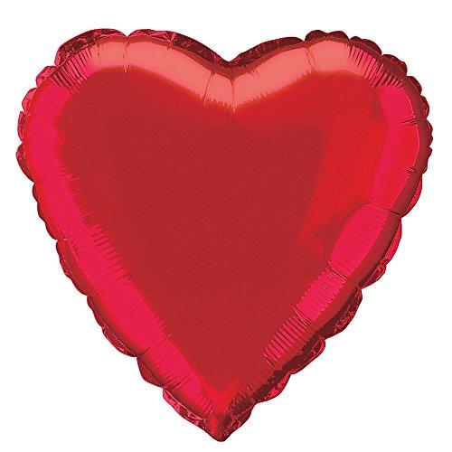 18 Foil Red Heart Balloon