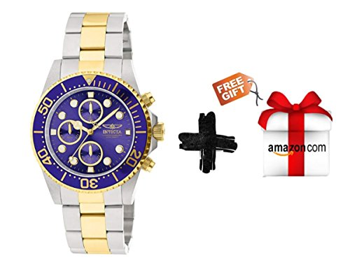 Invicta Men's 1773 Pro Diver 18k Gold Ion-Plating and Stainless Steel Watch + Free Gift