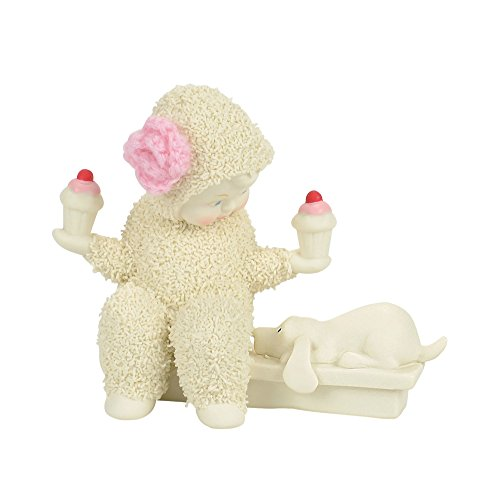 "Department 56 Snowbabies ""Balanced Diet"" Porcelain Figurine, 3.3"""