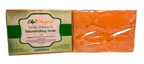 Skin Magical Extra Strength Rejuvenating Papaya with Glycolic & Lactic Acid Soap, 150g - Skin Whitening & Moisturizing