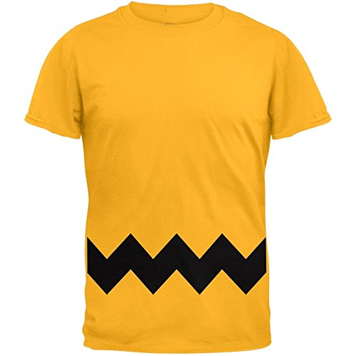 [XCOSER Mens Charlie Brown Stripe T Shirt Costume Short Sleeve XXL] (Charlie Brown Christmas Costumes)