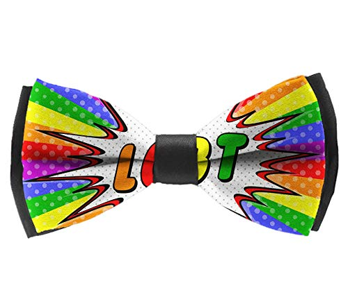 Elegant Adjustable Pre-tied bow ties for Men Boys in Different Colors(LGBT Tie Dye) -