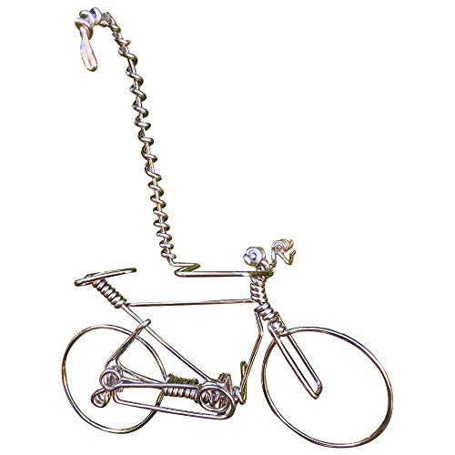 Handmade Valentine Mountain Bike Decorations Cycling Gifts ~Unique Biking Gift Car Hanger for Cyclists Bikers -ONE Whole Wire from Start to End w/No Single Break~Vintage Bicycle Ornaments Art Decor