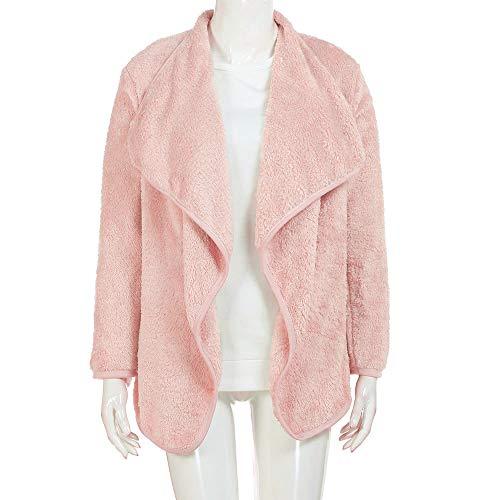 Cardigan Blousons Femme Sweaters Femme Dame Blanc Furry Coat Polaire Rose Manteau GongzhuMM Jacket Rose Parka Revers pour Automne Gris Hiver Outwear vwvrqIF