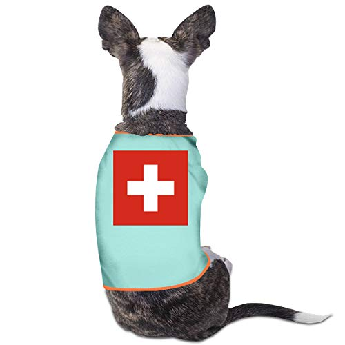 LNUO-2 Pet Shirt Clothes, Flag of Switzerland Dog Cat Shirts Costume Clothes Apparel]()