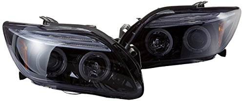Spec-D Tuning 2LHP-TC05G-TM Scion Tc Led Halo Glossy Black Housing Projector Head ()