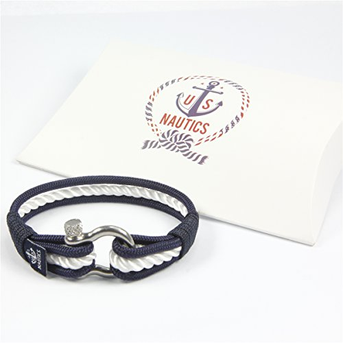 Blue Ocean Nautical Bracelets - Beautiful Bracelets Made of Yachting Rope- Wide Variety of Designs&Colors- Stainless Steel Buckle- Great Gift Idea For Men&Women- (Large, Nice) Photo #5