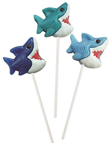 (Rhode Island Novelty ZYSHLOL shark lollipops 12 pack candy)