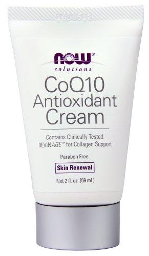 NOW Solutions CoQ10 Antioxidant Cream, Skin Renewal, 2-Fluid