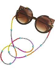 سلسلة النظارات الشمسية للنساء من فينشيك، من الخرز الملون، رينبو