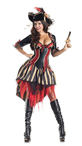 Pirate Body Shaper Adult Costume - X-Large