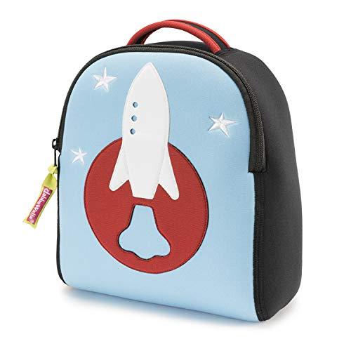 Dabbawalla Bags Harness Backpack, Blue/Red/Black/White, Rocket Toddler