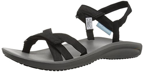 Columbia Damen Sandalen Big Wave Schwarz Black BL4530-010 Black White