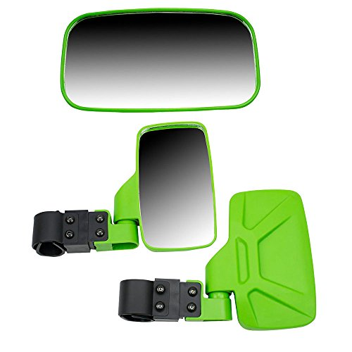 (8TEN Green Breakaway Offroad Rear & Side View Mirrors Combo Side x Side UTV Utility Vehicle w/ 1.75