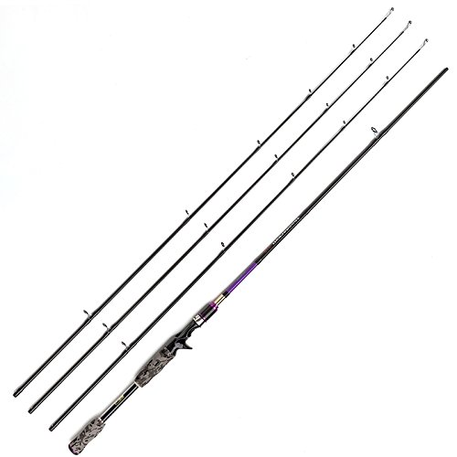 JOHNCOO 7' Carbon Baitcasting Fishing Rod M MH ML Power Bass Fishing Rod