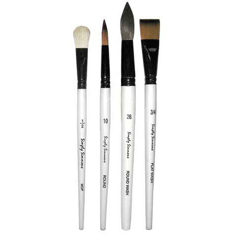 Simply Simmons Watercolor Brush Black Goat Round 1 4336955729