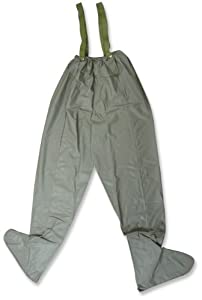 Stansport stocking foot chest wader fishing for Fishing waders amazon