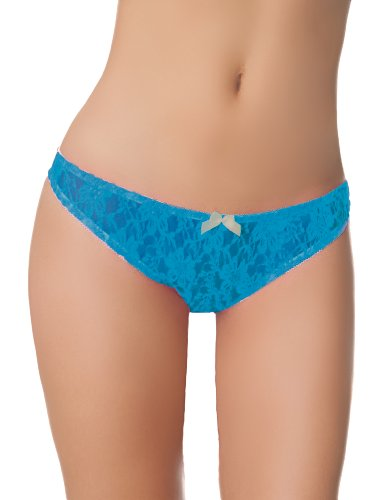 Blue Crotchless Panties, One Size (Blue Crotchless Panties)