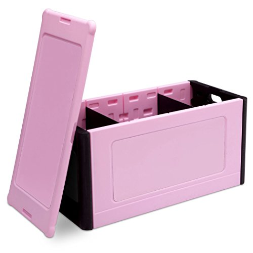 Delta Children Store and Organize Toy Box, Pink