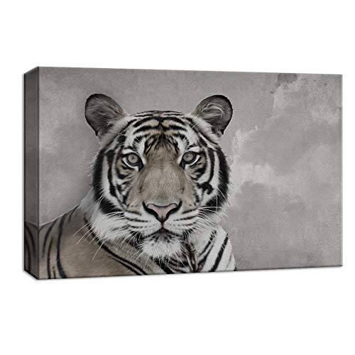 NWT Canvas Wall Art Wild Life Tiger Painting Artwork for Home Decor Framed - 24x36 inches