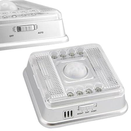 3X 8 LED Lámpara IR Infrarrojo Sensor A Movimiento Blanco: Amazon.es: Electrónica
