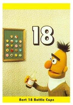 Bert Sesame Street trading card 1992 IM Henson #19 Eighteen Bottle Cap Collection]()