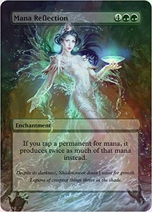 Mana Reflection - Casual Play Only - Customs Altered Art Foil - Reflections Stock