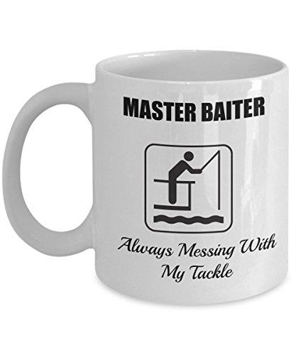 Master Baiter-Fish Coffee Cup-Fish Mug-Fishing Mug-Fly Fishing Mug-Fishing Coffee Mug-Funny Fishing Gifts-Fishing Gifts-Fishing Gag Gifts-Fishing Gift Ideas-Unique Fishing Gifts-Yesecart