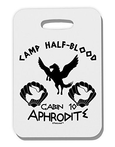[TooLoud Cabin 10 Aphrodite Camp Half Blood Thick Plastic Luggage Tag] (God And Goddesses Costume Aphrodite)