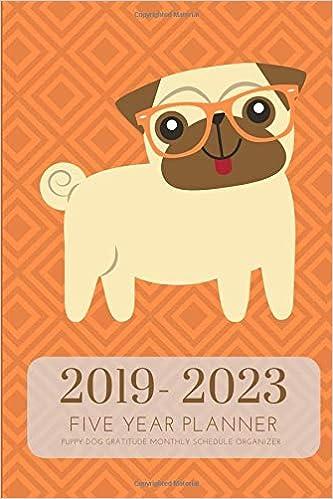2019-2023 Five Year Planner Puppy Dog Gratitude Monthly ...