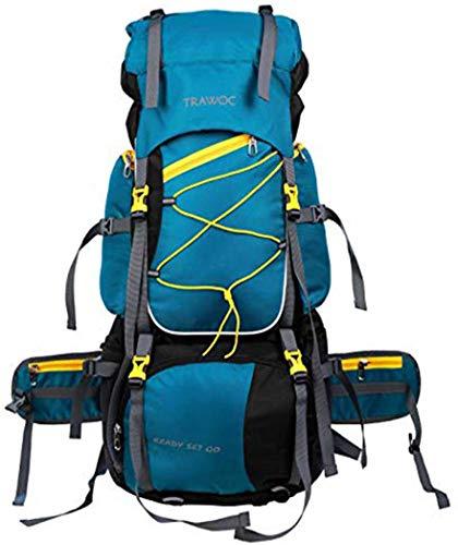 TRAWOC 75 Liter Travel Backpack for Hiking Trekking Bag Camping Rucksack BHK002 1 Year Warranty (Shamrock) Price & Reviews