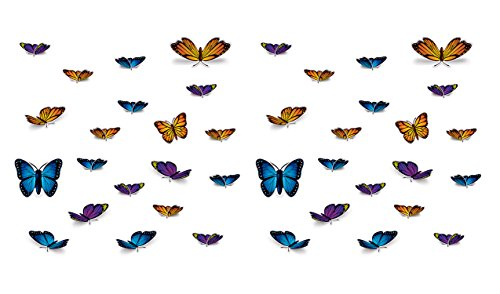 Beistle 54756 40Piece Butterfly Cutouts, Assorted Sizes, Multicolored ()