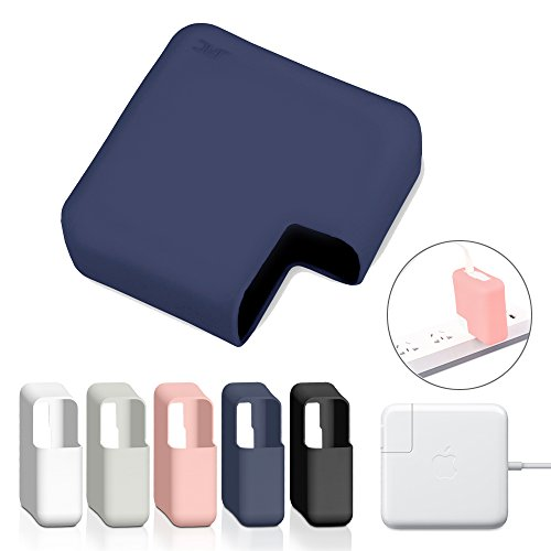 JRCMAX Charger Case,Soft Thin Silicone Charger Protector Case for MacBook Pro 15
