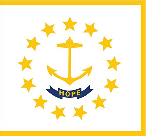 (JMM Industries Rhode Island Flag RI Vinyl Decal Sticker The Ocean State Car Window Bumper 2-Pack 5-Inches by 3-Inches Premium Quality UV-Resistant Laminate PDS345 )