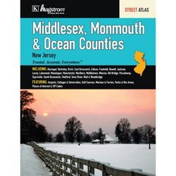 Middlesex Monmouth Ocean Counties NJ - Nj County Map Ocean