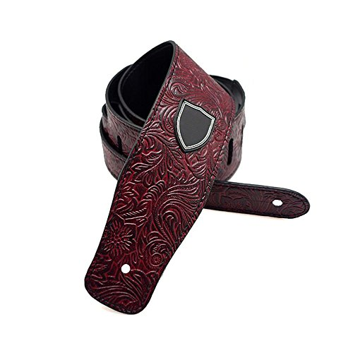 Guitar Strap Printed Vintage PU Leather Guitar Strap Retro J